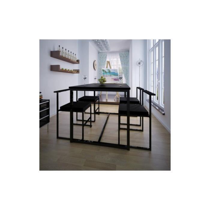 Table de salle manger et 4 chaises mdf achat vente for Table salle a manger 4 personnes
