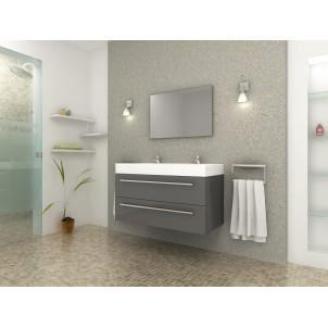 Mezzo ensemble de salle de bain gris 100 cm achat for Ensemble salle de bain gris