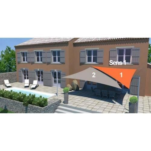 Pack voile triangle voile trap ze fixations achat vente voile d 39 ombrage pack 2 voiles - Toile triangle jardin ...