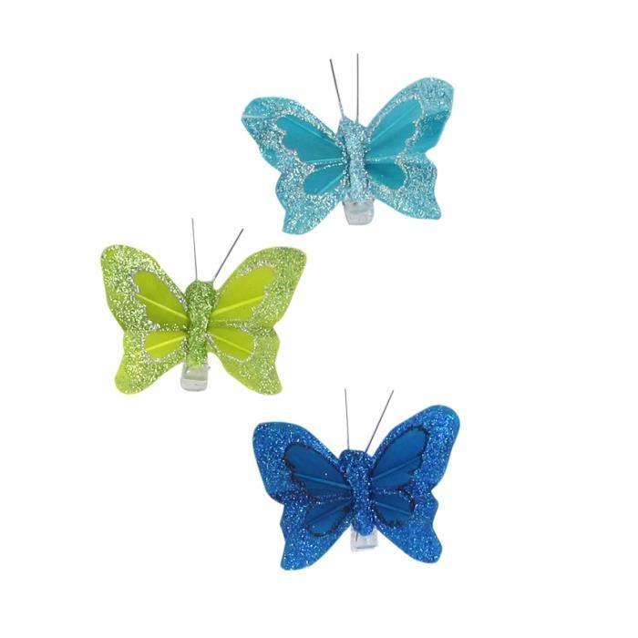 lot de 3 papillons ibiza bleu anis couleur principale. Black Bedroom Furniture Sets. Home Design Ideas