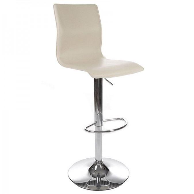 tabouret de bar design alto en similicuir creme achat vente tabouret de bar pu m tal. Black Bedroom Furniture Sets. Home Design Ideas