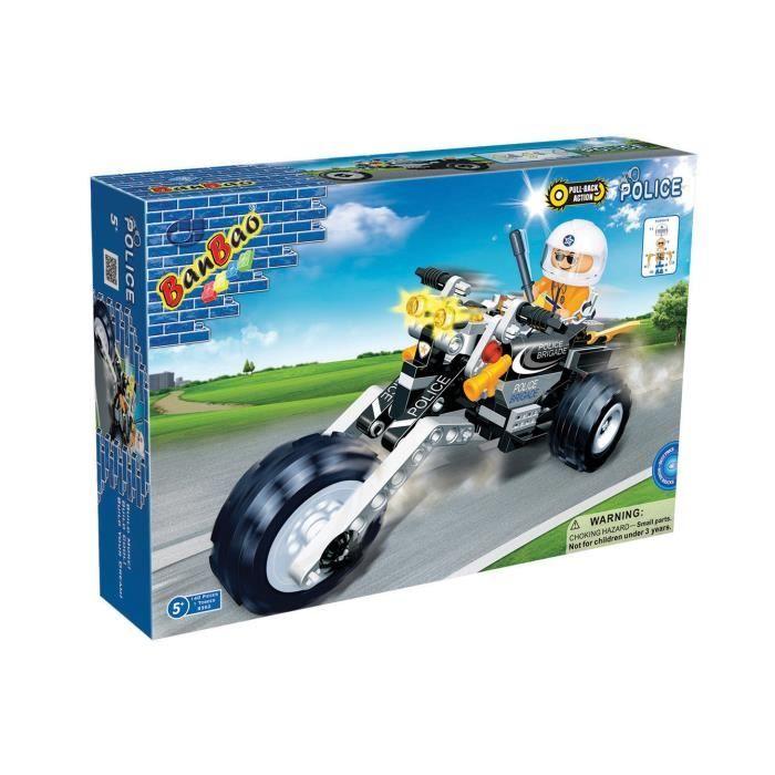 Jeu de construction banbao police moto 1 figurine 140 - Jeux de motos de police ...