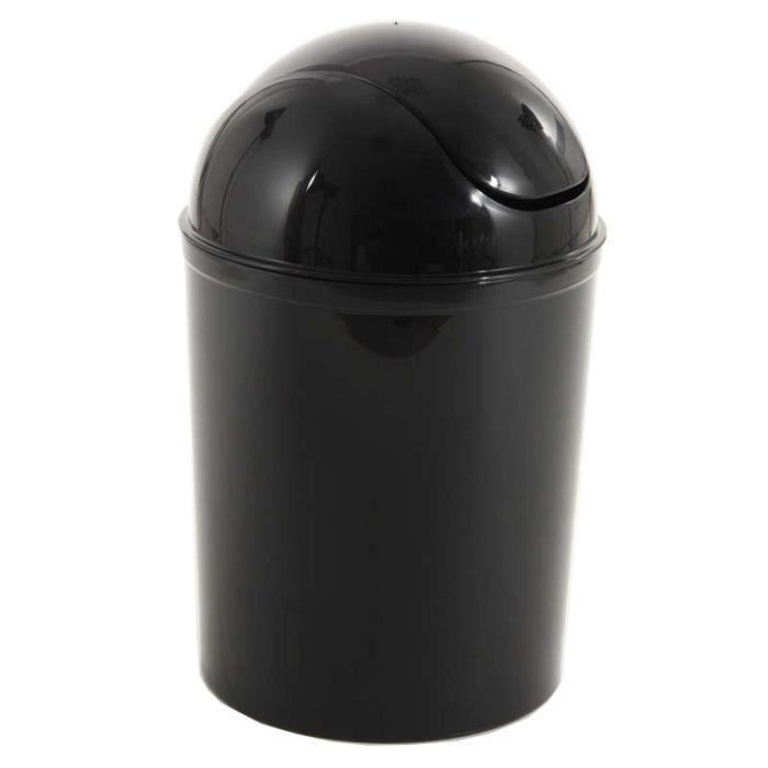 Poubelle de salle de bain noir 7l paris prix achat - Poubelle salle de bain noire ...