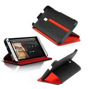 HOUSSE - CHAUSSETTE HTC Etui noir et rouge pour HTC One MIni