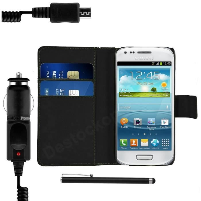 Etui samsung galaxy s3 mini stylet chargeur achat for Housse samsung s3
