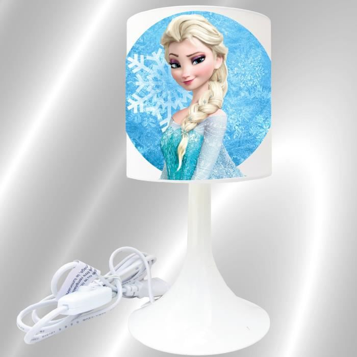reine des neiges frozen lampe de chevet de cr ation achat vente lampe a poser cdiscount. Black Bedroom Furniture Sets. Home Design Ideas