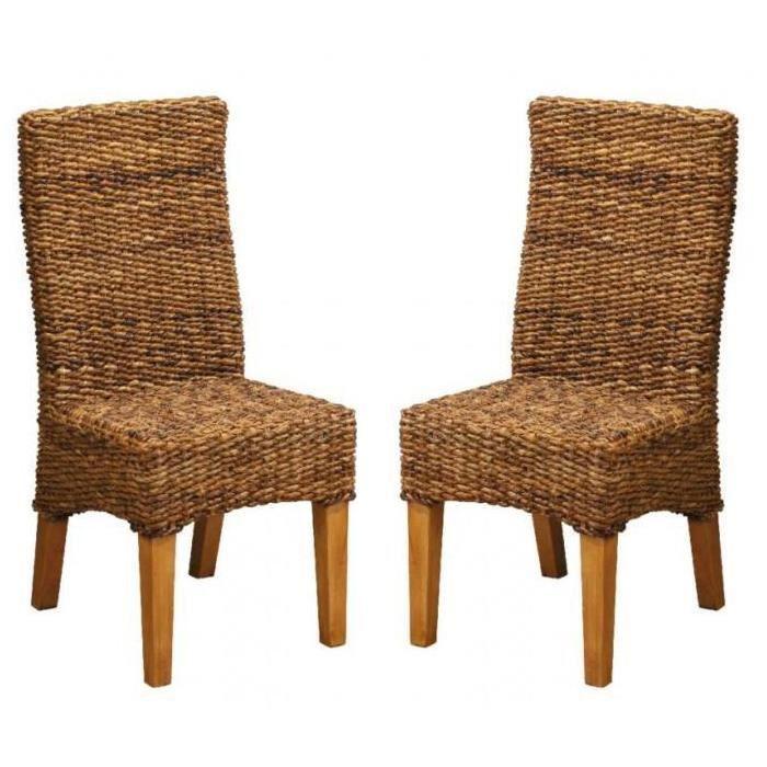 lot de 2 chaises abaca pi tement pin massif meuble house achat vente chaise de bureau. Black Bedroom Furniture Sets. Home Design Ideas
