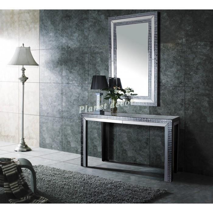 ensemble console et miroir design artemis achat vente. Black Bedroom Furniture Sets. Home Design Ideas