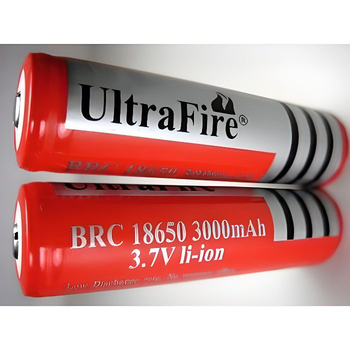 1 pile 18650 prot g rechargeable 3000mah 3 7v ultrafire. Black Bedroom Furniture Sets. Home Design Ideas