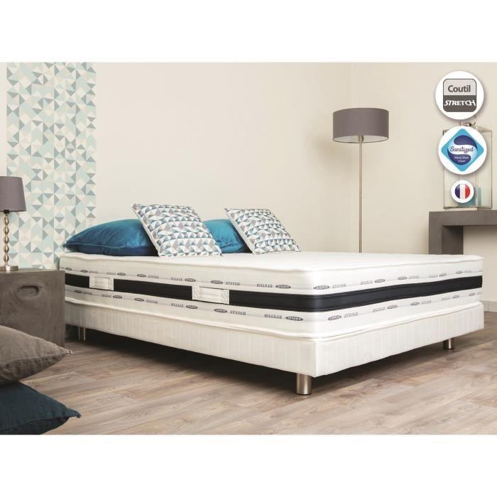 matelas 140x190cm luxe 2 personnes 35kg m3 7 zones achat vente matelas les soldes sur. Black Bedroom Furniture Sets. Home Design Ideas