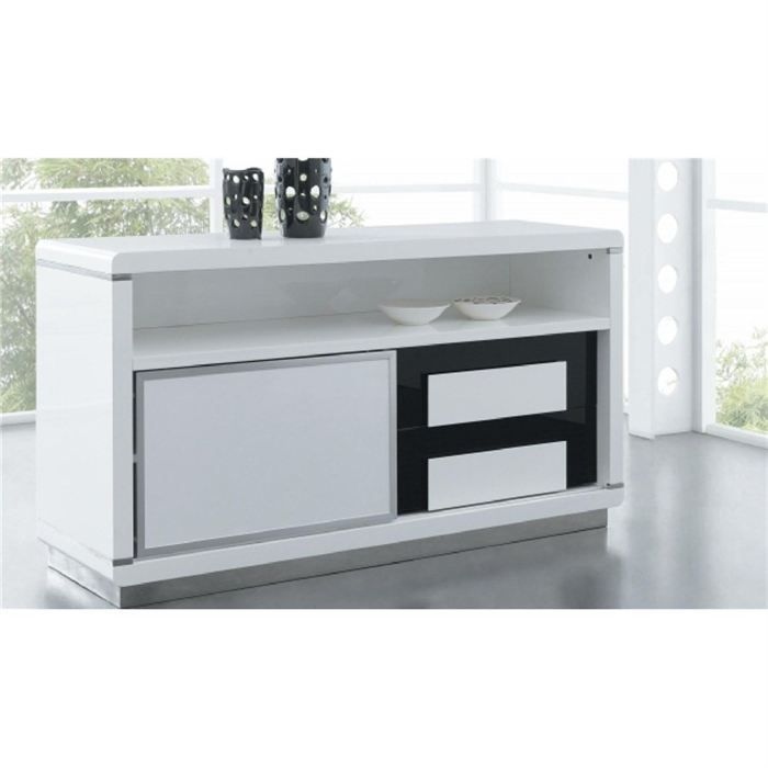 Commode design laque blanc bentley achat vente commode de chambre commode blanc bentley bois - Chambre blanc laque design ...