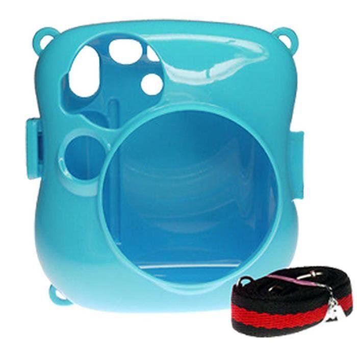 fuji camera case en plastique bleu pour fuji instax mini photovideopascher. Black Bedroom Furniture Sets. Home Design Ideas