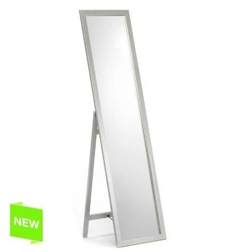 Miroir mural 150x30 cm blanc achat vente miroir for Miroir mural soldes