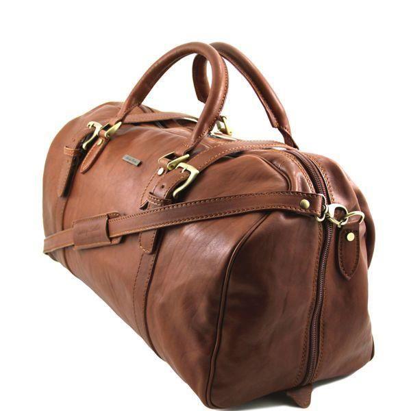 sac de voyage cuir anastasio c marron marron achat. Black Bedroom Furniture Sets. Home Design Ideas