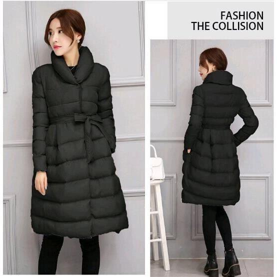 Extrêmement manteau doudoune longue femme,manteau doudoune longue femme hiver noir HW06