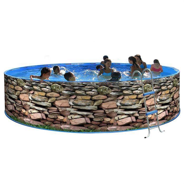 Mur piscine en acier circulaire 400x90 achat vente piscine muro piscine acier 400x90 for Achat piscine acier