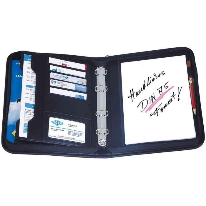 Porte documents format a5 en pu noir for Format porte