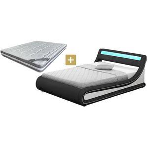 lit coffre led achat vente lit coffre led pas cher les soldes sur cdiscount cdiscount. Black Bedroom Furniture Sets. Home Design Ideas