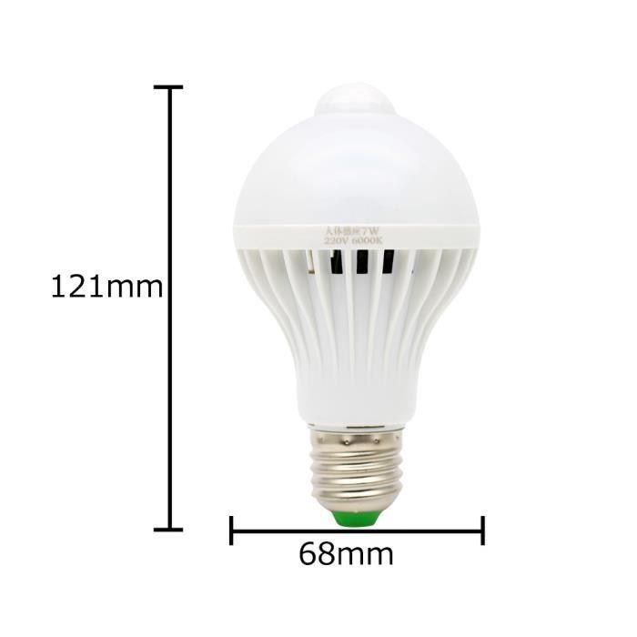e27 ampoule detecteur 7w lampe mouvement 16 smd 5730leds super brillant ampoule detecteur de. Black Bedroom Furniture Sets. Home Design Ideas