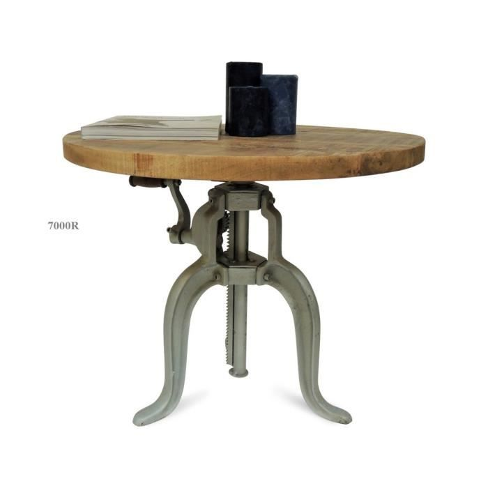 Table basse manivelle achat vente table basse table basse manivelle - Table basse rehaussable ...