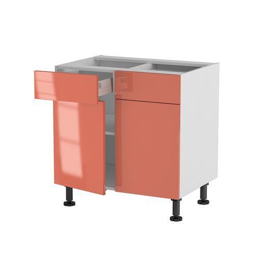 meuble cuisine bas 80cm 2 tiroirs portes 40 70 achat. Black Bedroom Furniture Sets. Home Design Ideas