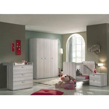 Chambre b b compl te anna gris achat vente chambre compl te b b 3700711 - Chambre bebe cdiscount ...