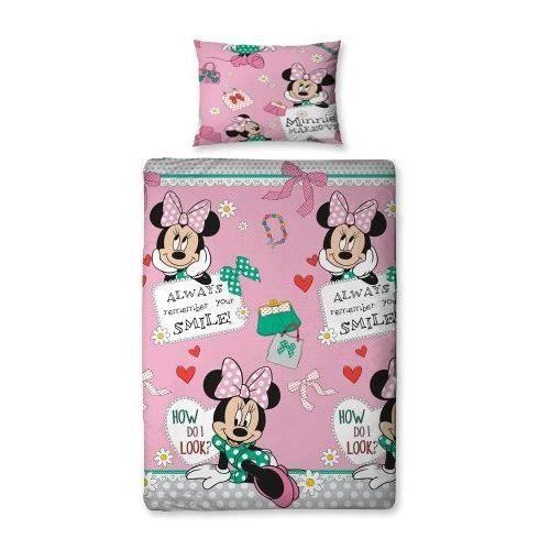 disney minnie mouse makeover parure de lit 1 pers housse de couette 135cm x 200cm et 1 taie d. Black Bedroom Furniture Sets. Home Design Ideas