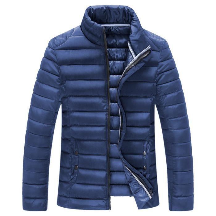 parka homme veste doudoune homme paillette mant bleu fonc achat vente parka cdiscount. Black Bedroom Furniture Sets. Home Design Ideas