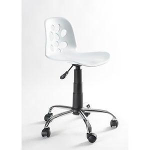 Fauteuil de bureau blanc achat vente fauteuil de for Chaise de bureau blanc