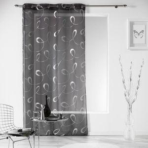 rideaux voile argente achat vente rideaux voile argente pas cher cdiscount. Black Bedroom Furniture Sets. Home Design Ideas