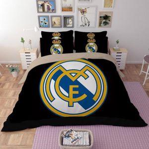linge de lit real madrid achat vente linge de lit real madrid pas cher les soldes sur. Black Bedroom Furniture Sets. Home Design Ideas