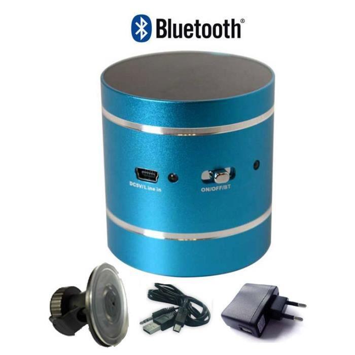 enceinte vibrante bluetooth 10 w bleu enceintes. Black Bedroom Furniture Sets. Home Design Ideas