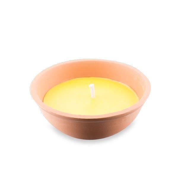 bougie citronnelle 13 cm dans pot en terre cuite achat vente bougie d corative soldes. Black Bedroom Furniture Sets. Home Design Ideas