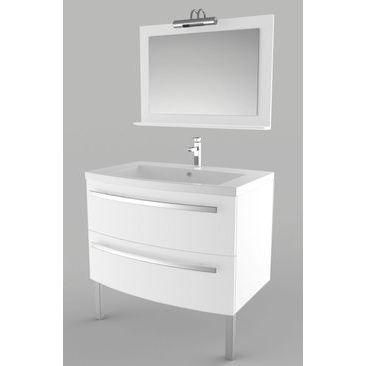 meuble bendy 90 blanc achat vente salle de bain. Black Bedroom Furniture Sets. Home Design Ideas