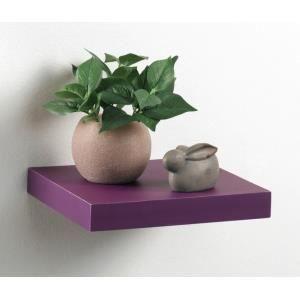 etag re flottante de 25 cm de longueur couleur violet achat vente meuble tag re etag re. Black Bedroom Furniture Sets. Home Design Ideas