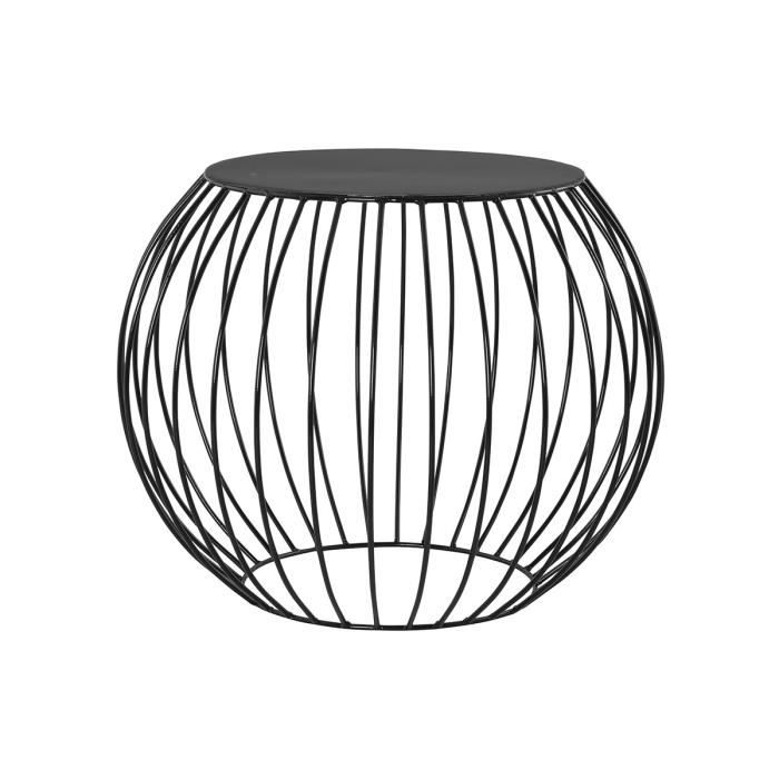 Table d 39 appoint noir cage achat vente console table d for Table d appoint moderne