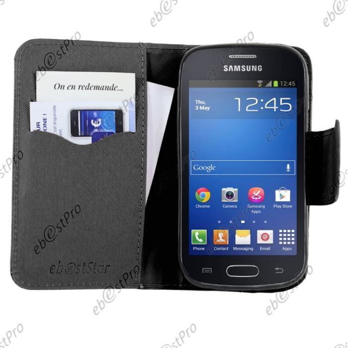 Ebeststar samsung galaxy trend lite etui livre film - Samsung galaxy trend lite mode d emploi ...