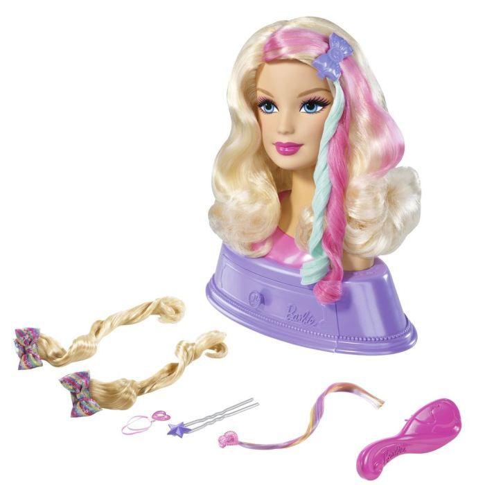 barbie t te coiffer et extensions accessoires achat vente tete coiffer barbie t te. Black Bedroom Furniture Sets. Home Design Ideas