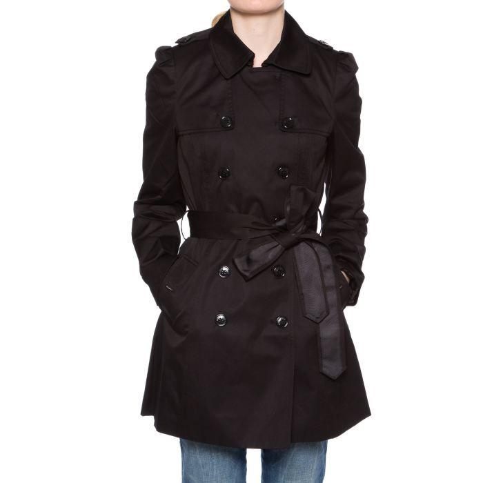 trench femme miss sixty query noir noir noir achat. Black Bedroom Furniture Sets. Home Design Ideas
