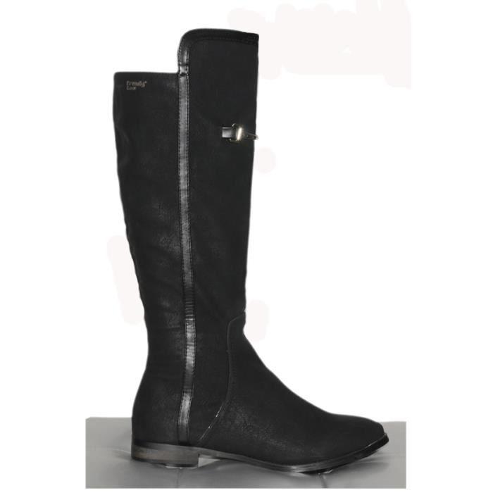 bottes style cavali re trendy ref 0426 noir noir achat vente botte cdiscount. Black Bedroom Furniture Sets. Home Design Ideas