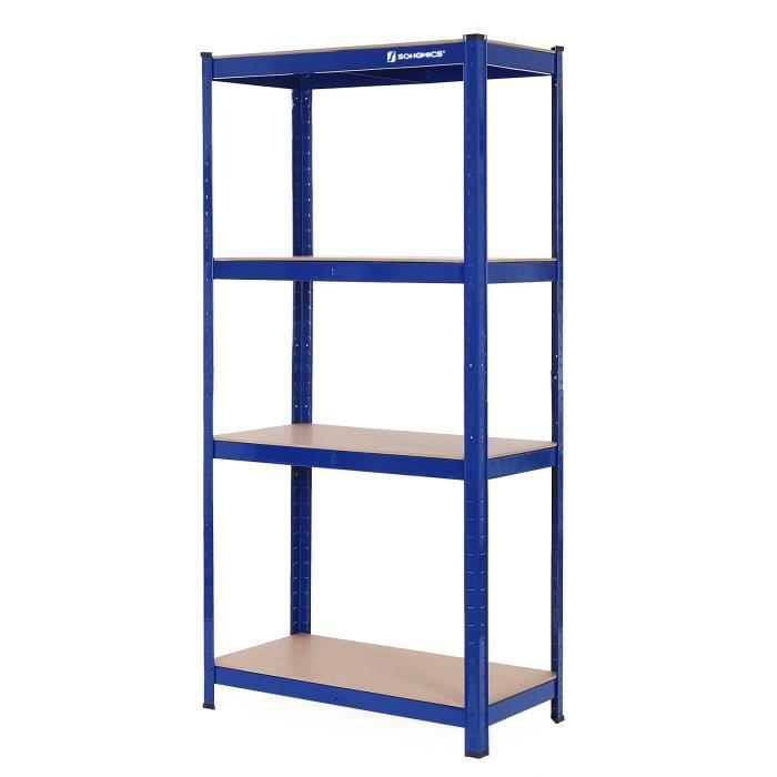 etag 232 re de rangement charge lourde de 520 kg en m 233 tal bois avec 4 tablettes glr44q songmics