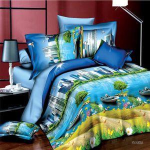 housse de couette ocean achat vente housse de couette ocean pas cher cdiscount. Black Bedroom Furniture Sets. Home Design Ideas