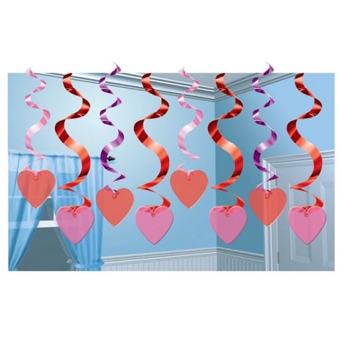 15 Guirlandes verticales Coeurs - Achat / Vente banderole - bannière ...