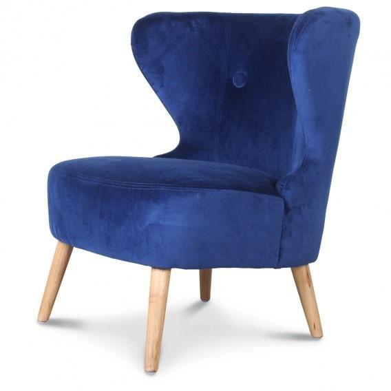 fauteuil crapaud design en toile bleu indigo achat vente fauteuil bleu soldes d hiver. Black Bedroom Furniture Sets. Home Design Ideas