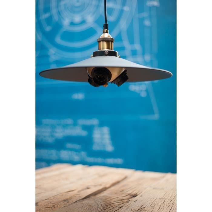 suspension vintage style industriel pour 3 ampoules. Black Bedroom Furniture Sets. Home Design Ideas