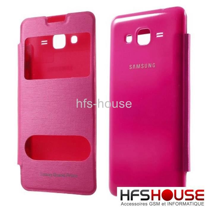 telephonie accessoires portable gsm samsung galaxy grand prime v rose g coque houss f  auc