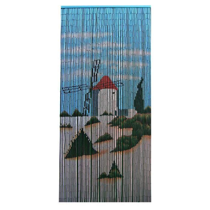 rideau de porte moustiquaire bambou moulin achat vente rideau voilage bambou cdiscount. Black Bedroom Furniture Sets. Home Design Ideas