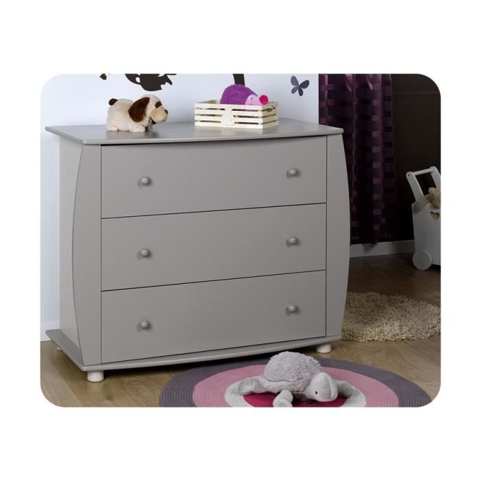 Commode b b r ve plan langer amovible gris achat - Commode bebe cdiscount ...