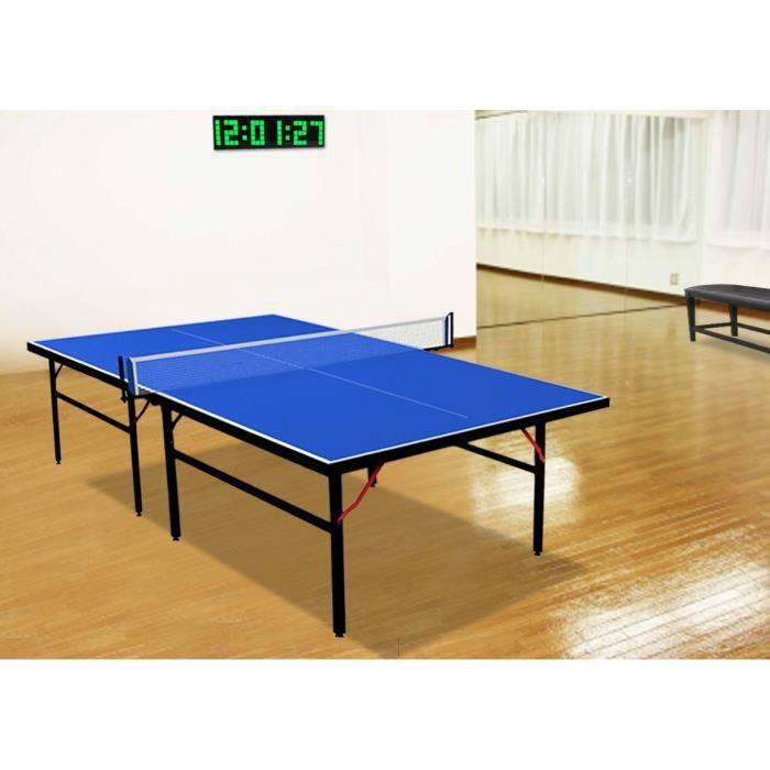 Table de ping pong d int rieur bleu prix pas cher - Table de ping pong pas cher decathlon ...
