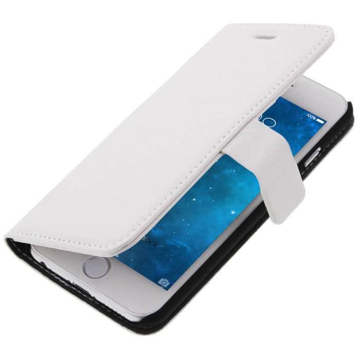 Housse portefeuille apple iphone 6 blanc achat housse for Housse portefeuille iphone 6